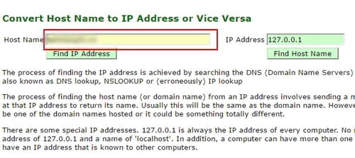 Chuyển đổi Host/Domain Name thành địa chỉ IP và ngược lại